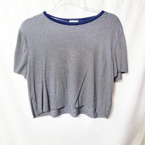 URBAN OUTFITTERS Project Social T Striped Crop EUC